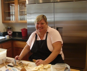 Chef Sue Boy keeps the crew going all through Harvest